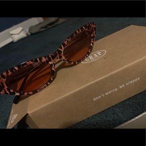NEW Ultra Jungle Cat Eye Sunglasses W/ CASE